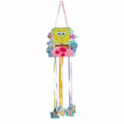Pinata mica cu panglici Sponge Bob Party, 23 x 24 cm, Amscan 998296