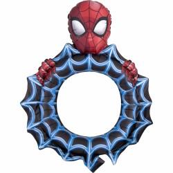 Selfie Frame / Rama selfie Spiderman din Balon folie, S70, Amscan 3819301