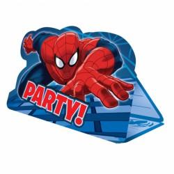 Invitatii de petrecere cu Spiderman, 8 buc. / set, Amscan 999280