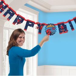 Banner Spiderman Happy Birthday cu cifre pentru personalizarea varstei,...