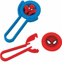 Aruncatoare cu discuri din plastic Spiderman, 12buc./set,    Amscan...