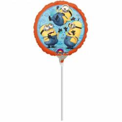 Mini balon din folie metalizata Minion - 23cm, Amscan 2995609