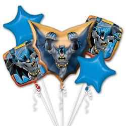 Buchet 5 baloane folie metalizata, Batman DC Comics,    Amscan 3271701