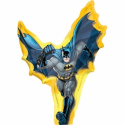 Balon mini figurina folie, Batman DC Comics, cu bat si rozeta, 23cm,...