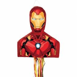 Pinata Iron Man Avengers cu sfori / panglici, Amscan 9903151