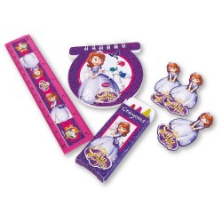 Set rechizite Sofia the First, 20 buc./set, Amscan 997170