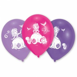 Baloane latex inscriptionate Sofia the First,10 buc./set, 25,4cm, Amscan...