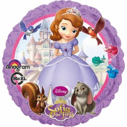 Balon folie metalizata Sofia the First, 43 cm, Amscan 2752901