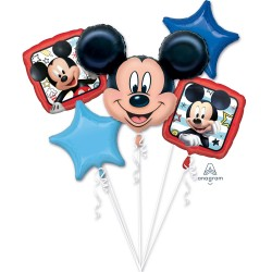 Buchet 5 baloane folie, Mickey Roadster Racers, Amscan 3622601