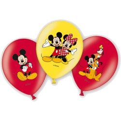Baloane latex inscriptionate Micky Mouse, 27.5 cm, 6buc./set,...