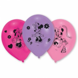 Baloane latex inscriptionate Minnie Mouse, 25.4cm, 10 buc./set, Amscan...