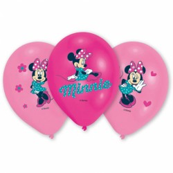 Baloane latex inscriptionate Minnie Mouse, 27,5cm, 6 buc./set, Amscan...