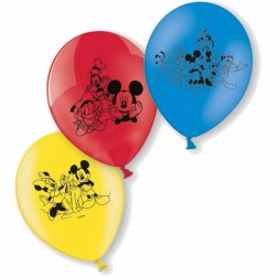 Baloane latex inscriptionate Micky Mouse, 23 cm, 6 buc./set,     Amscan...