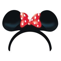 Coronita din plastic cu urechi Minnie Mouse, 4buc./set, Amscan 995241