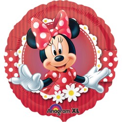 Balon folie metalizata, 43cm, Minnie Mouse, Amscan 2481301