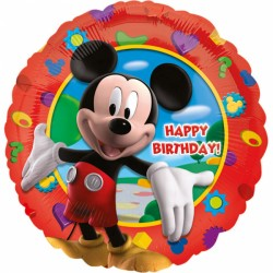 Balon Folie, Mickey Mouse Happy Birthday, 43 cm, Amscan 14055 01