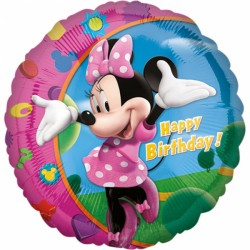 Balon Folie metalizata Minnie Mouse La multi ani, 43 cm, Amscan 17797 01