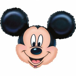 Balon figurina folie cap Mickey Mouse, 69x53cm, Amscan 07764 01