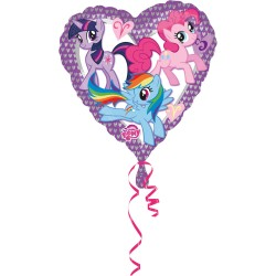 Balon Folie metalizata inima My Little Pony, 43 cm, Amscan 2479701