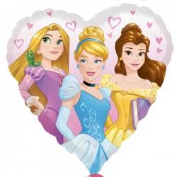 Balon Folie metalizata inima Printese Disney, 43 cm, Amscan 3426701
