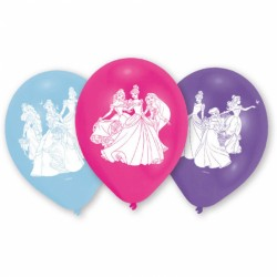 Balon latex Printesele Disney, 22.8 cm, Amscan 999226