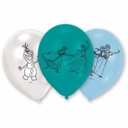 Balon latex Frozen, 22.8 cm, 6buc./set, Amscan 999231