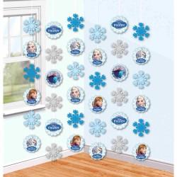 Ornamente decorative tip perdea Frozen,6 buc./set, Amscan 999263