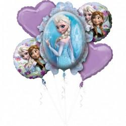Buchet 5 baloane folie, Frozen, Amscan 3268301