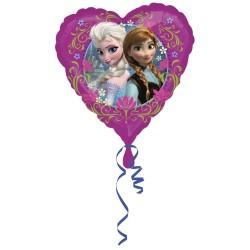 Balon folie metalizata inima Frozen, 43cm, Amscan 2984201