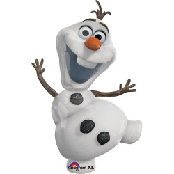 Balon figurina folie Olaf Frozen, 58x104 cm, Amscan 2831601