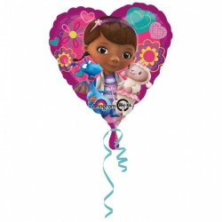 Balon folie metalizata inima Doc Mcstuffins / Doctorita Plusica, 43cm,...