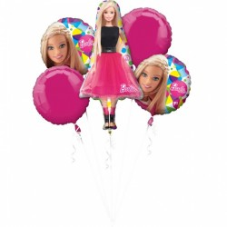 Buchet 5 baloane folie, Barbie Sparkle, Amscan 3039501