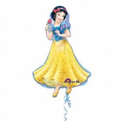 Balon figurina folie Alba ca Zapada, 60x93 cm, Amscan 2847401