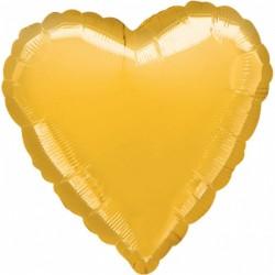 Balon Folie in forma de Inima Auriu - 45cm, 1 buc.