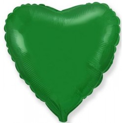 Balon Folie in forma de Inima Verde - 45cm, 1 buc.