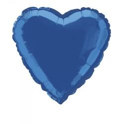Balon Folie in forma de Inima, Albastru - 45cm, 1 buc.