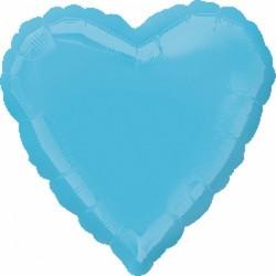 Balon Folie in forma de Inima Baby Bleu - 45cm, 1 buc.