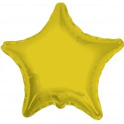 Balon Folie metalizata in forma de Stea Auriu, 48 cm, 1buc.