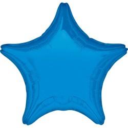Balon Folie metalizata in forma de Stea Albastru, 48 cm, 1buc.