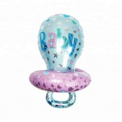 Balon folie metalizata Botez Baietel, Suzeta Baby, 71x53 cm
