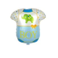 Balon folie metalizata Costum Body Baby Boy, Botez Baietel, 50x47 cm