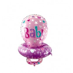 Balon folie metalizata Botez Fetita,  Suzeta, Baby It's a Girl, 71x53cm