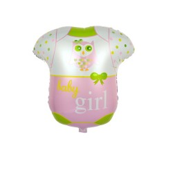 Balon folie metalizata Botez Fetita,  Costum Body Baby Girl, 50x47 cm
